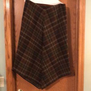 Ralph Lauren wool plaid skirt.